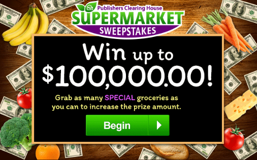 PCH 100K Supermarket Sweepstakes No. 15000