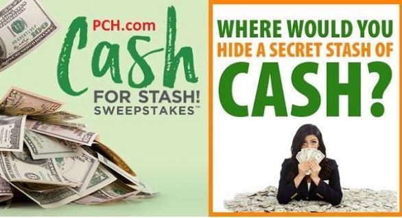 PCH $20K Secret Cash Stash Sweepstakes