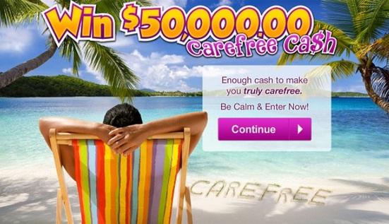 PCH.com $50k Carefree Cash Giveaway