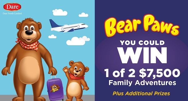 Bear Paws Family Adventures Sweepstakes