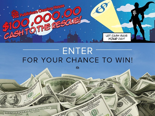 PCH $100000 Cash to The Rescue Giveaway